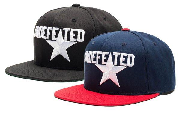 【 超搶手 】 全新正品 2014 春季 UNDEFEATED STAR STARTER SNAPBACK 字體 星星 棒球帽 黑色