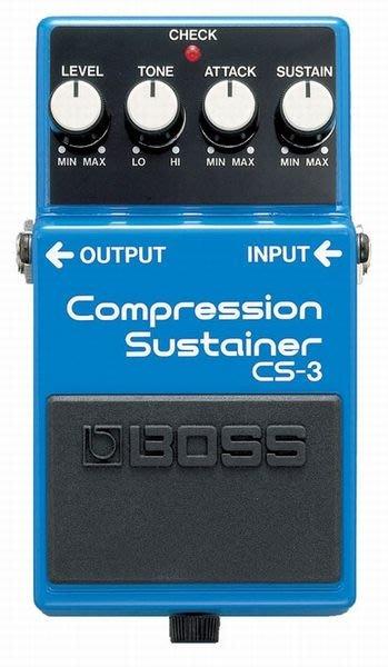 【六絃樂器】全新 Boss CS-3 Compression Sustainer 壓縮延音效果器 / 現貨特價