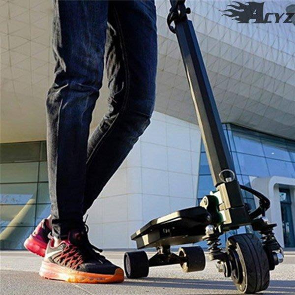 5Cgo【批發】含稅會員有優惠 527905490374 ZAR新款電動滑板車踏板迷你代步成人折疊便攜三輪平衡電動自行車