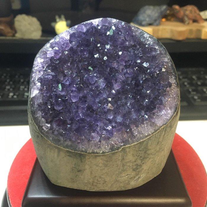 烏拉圭紫晶鎮  紫晶片 紫水晶 圓型 內凹 晶洞晶片 紫羅蘭