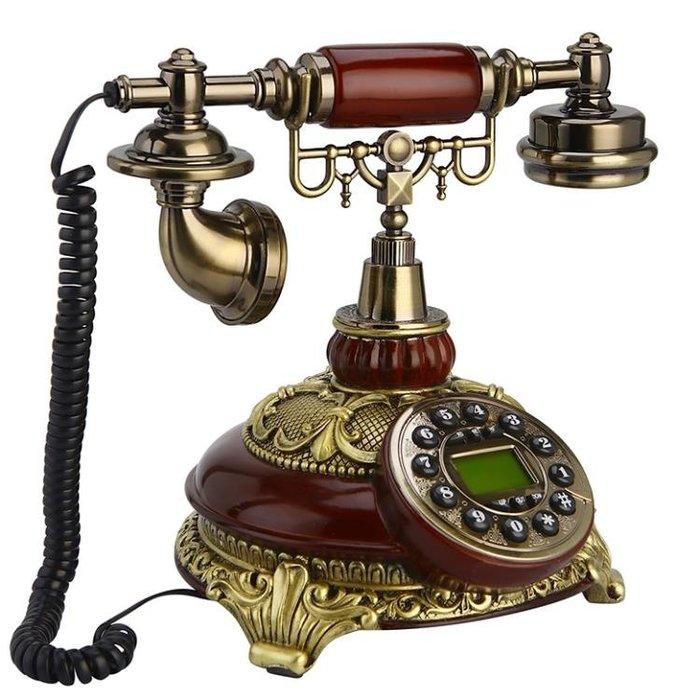 美式仿古電話機座機歐式電話機家用無線插卡固定辦公古董復古電話