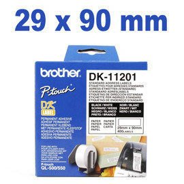 brother QL-570/580/NQL-700/QL-650TD/1050標籤帶DK系列 DK-11201 ( 29X90mm ) ~請看商品說明