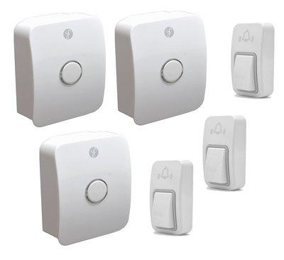 [三永] 最高級 經典款 室外機免電池 防水 自發電 無線門鈴 無線電鈴 求救鈴 3對3 三對三 兩年換新保固