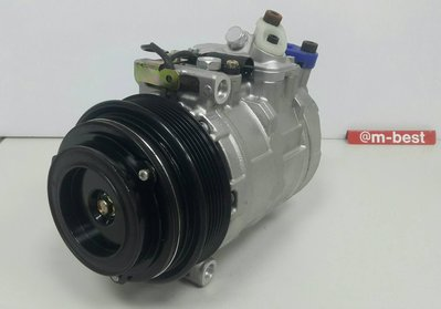 BENZ W210 M104 1996-1997 壓縮機 6溝 (插頭1腳) (外匯新) 0002307011