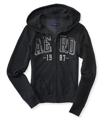 MISHIANA 美國休閒品牌 AEROPOSTALE 女生款棉質刷毛連帽外套 ( 2色特價出售! )