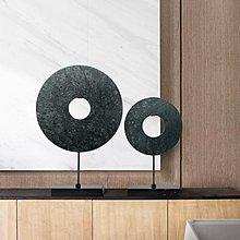 千禧禧居~新中式禪意大理石擺件  現代玄關過道藝術展廳售樓處酒店軟裝飾品