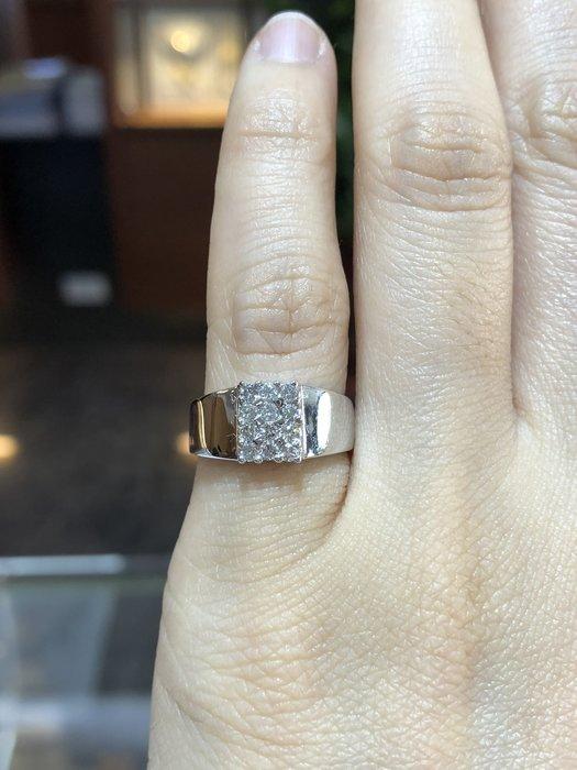 總重20分天然鑽石白K金尾戒,超值優惠價8800,精選商品只有一個要買要快