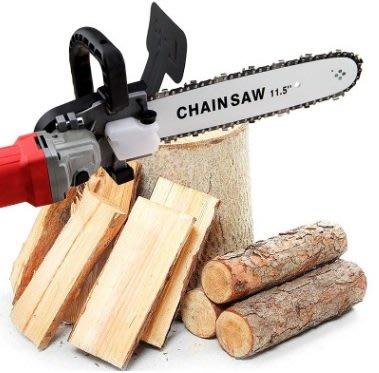 角磨機轉電鏈鋸自動加油 套装100型磨光機改裝電鏈鋸家用伐木鋸支架配件套(不含角磨機)