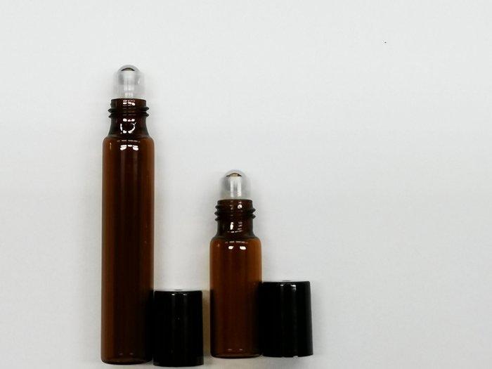 『24小時』10cc/5cc鋼珠精油瓶 精油瓶 玻璃滾珠瓶 精油分裝瓶 空瓶 茶色精油瓶 隨身滾珠瓶 瓶瓶罐罐