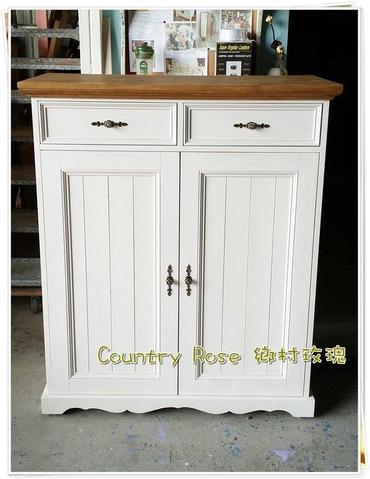 英式鄉村鞋櫃 置物櫃 鞋櫃 - 鄉村玫瑰 木工坊 店面裝潢
