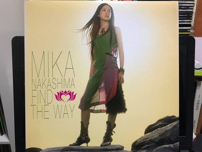 中島美嘉 MIKA NAKASHIMA/FIND THE WAY 黑膠唱片