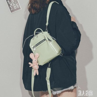 後背包‧韓版小清新迷你雙肩包女2019新款時尚超火百搭pu皮小書包背包4126