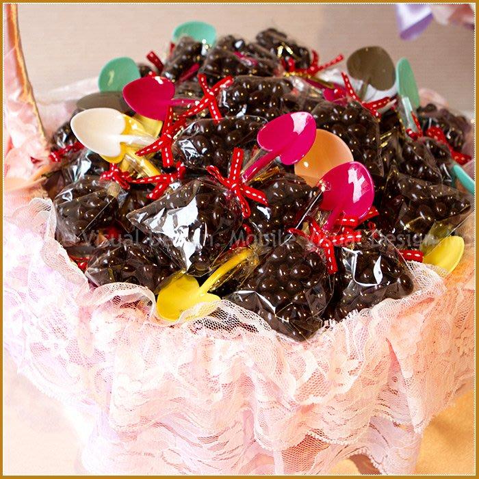 幸福鏟子「米果巧克力」X100份+大提籃X1個(限宅配)--生日分享/幼兒園活動獎/二次進場婚禮小物/送客喜糖/幸福朵朵