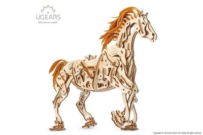 Ugears 機械赤兔馬 Horse-Mechanoid 仿生機械動物模型 環保木製