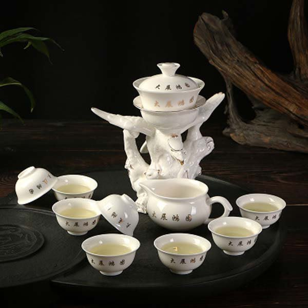 5Cgo【茗道】含稅會員有優惠 41408213758 自动茶具茶壶瓷茶具茶具家用礼品茶具功夫茶具整套功夫茶具
