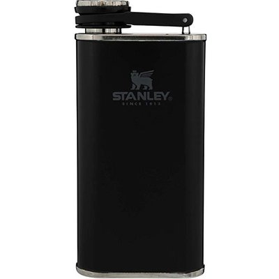 Stanley 美國 經典不鏽鋼小酒壺 8 oz Classic Easy Fill Wide Mouth Flask Matte Black