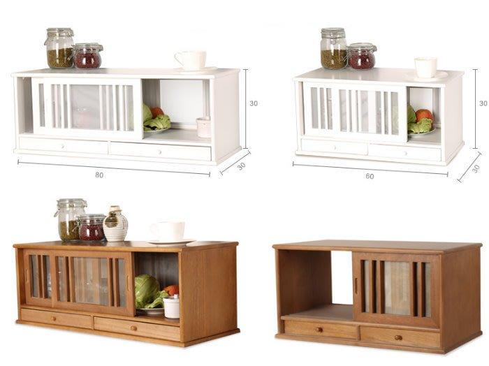[ Atelier Smile ] 鄉村雜貨  日本直送 原木餐邊櫃  廚房收納櫃 透氣小碗櫥  兩色選 80(現+預)