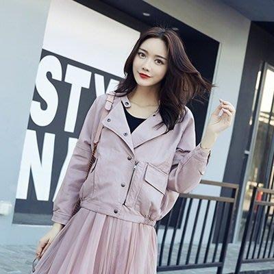 皮衣外套 機車夾克-立領純色蝙蝠袖短款女外套3色73on43[獨家進口][巴黎精品]