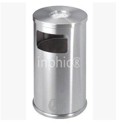 INPHIC-垃圾桶 不鏽鋼附煙灰菸灰缸圓形港式垃圾箱 電梯靠牆桶
