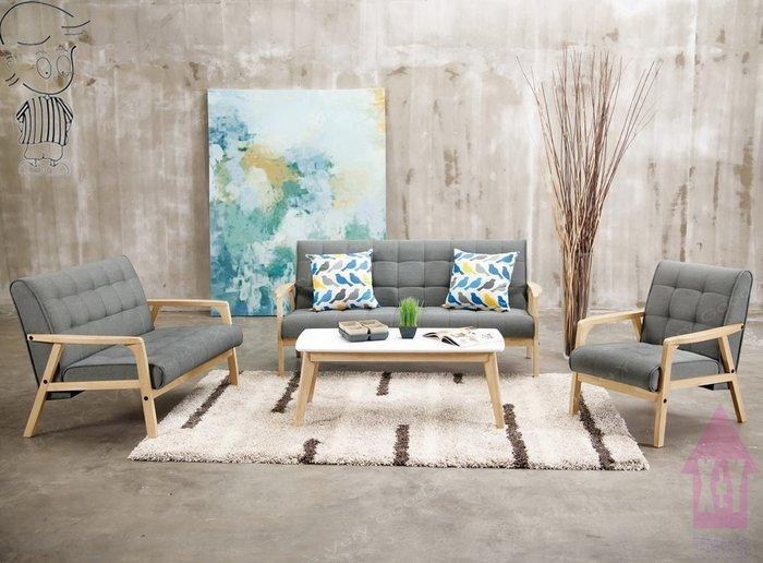 【X+Y時尚精品傢俱】沙發組椅系列-妮克絲 休閒沙發(1+2+3.不含茶几).橡膠木實木+棉麻布座墊.可拆賣.摩登家具