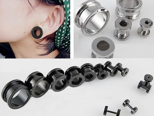 ☆追星☆ 952兩色可選(0.2/0.3/0.4公分)耳擴器 耳環(1個)西德鋼 擴耳器 擴洞耳環 體環 穿刺藝術