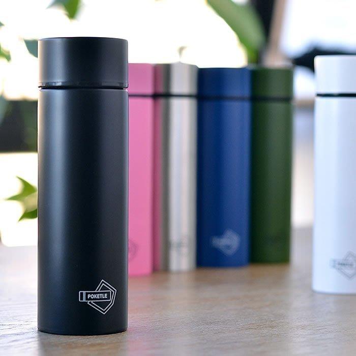 日本【POKETLE】不鏽鋼霧面輕量保溫瓶 120ml