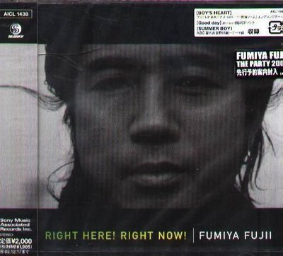 K - 藤井郁彌 - RIGHT HERE ! RIGHT NOW ! - 日版 - NEW