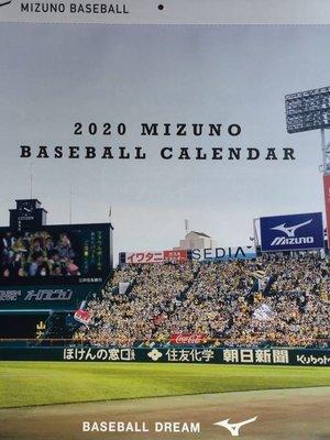 貳拾肆棒球-日本帶回東京Miuzno總店2020野球月曆 ..