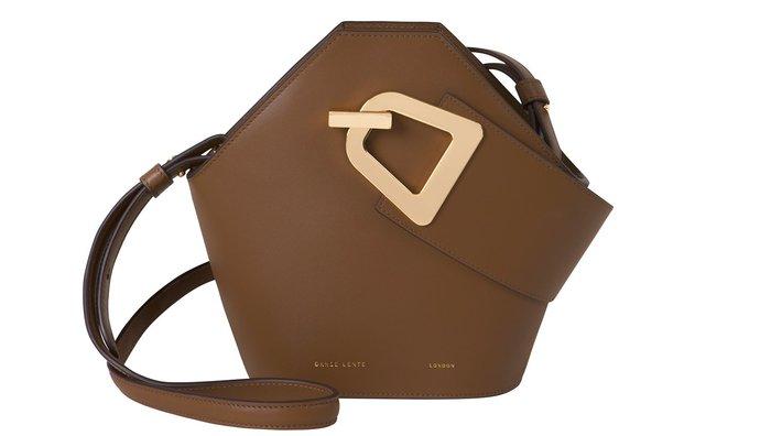 全新正品 倫敦 小衆品牌 Danse Lente mini johnny_DL 水桶包 金棕色 _Johnny 水桶包
