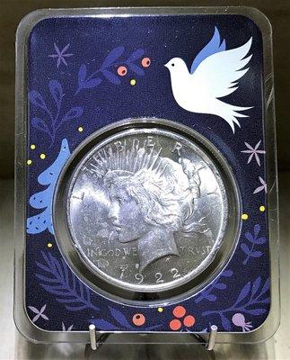 1922 Peace Silver Dollar Dove of Peace BU 和平鴿銀幣 (0.777 toz)