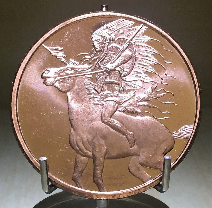 Red Horse 紅馬酋長純銅幣 (1 oz)