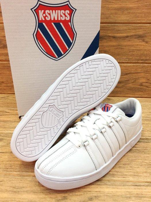 DIBO -現貨 K SWISS CLASSIC 88 經典皮質 男生 休閒運動鞋(全白)kswiss-男鞋.大尺碼