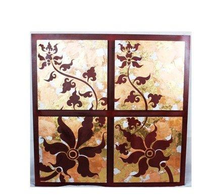 INPHIC-東南亞 家居飾品 泰國風格 掛飾 金箔畫 四朵小花