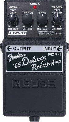 ☆ 唐尼樂器︵☆ BOSS FDR-1 Fender Deluxe Reverb 音箱 模擬 效果器 FDR-1