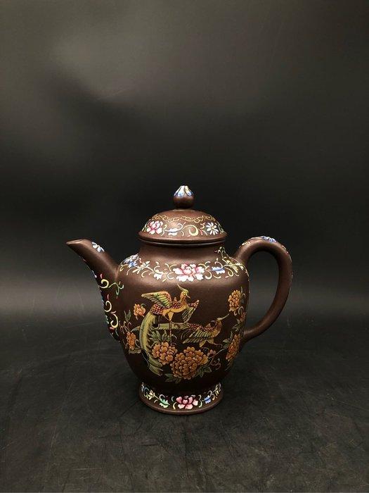 藏古院-紫砂琺琅彩名家壺
