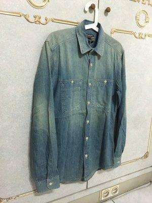 JACK & JONES 全新 正版 牛仔 襯衫 水洗 淺色 破壞 刷白 丹寧 ASOS