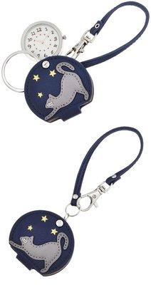 日本正版 Fieldwork LW051-3 貓 掛錶 懷錶 深藍色 日本代購