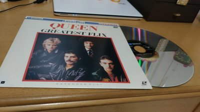 [LaserDisc/LD]皇后樂團Queen〈Greatest Flix〉~台北中華南海路口可面交/郵寄/超商