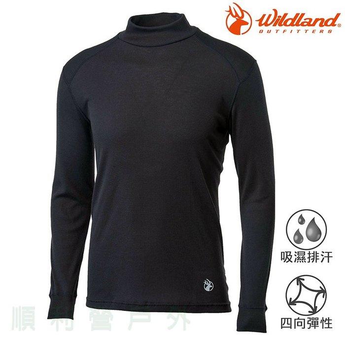 荒野WILDLAND 男款Highest 彈性立領保暖衣 H2662 黑色 衛生衣 內衣 發熱衣 OUTDOO NICE