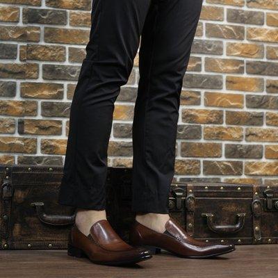 『老兵牛仔』YL-2022-53套腳拋色商務牛皮皮鞋/頭層牛皮/時尚/彈力/耐摩/個性