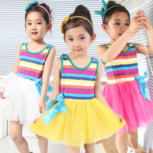 甜美《彩虹紗裙款》夢幻背心式洋裝(S2)