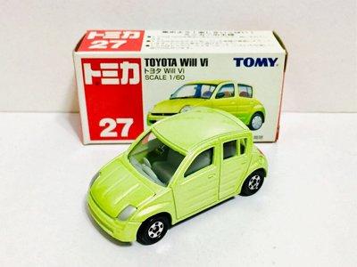 Tomy Tomica 紅白盒 No.27 豐田 Toyota Will Vi