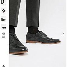 全新 英國 ASOS 真皮 手染牛津皮鞋 婚鞋 休閒皮鞋 us10號  現貨 布洛克雕花