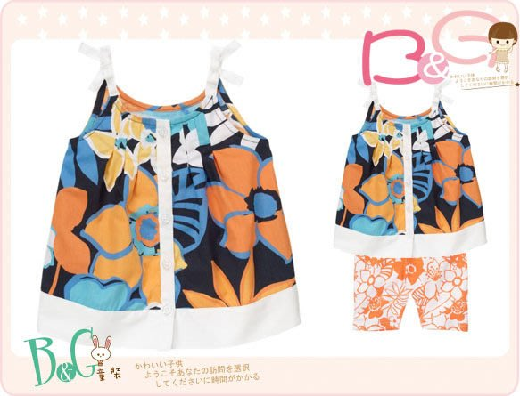 【B& G童裝】正品美國進口GYMBOREE 花朵圖樣背心上衣2,3yrs