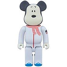 全新 未開封 Medicom Bearbrick 400% Peanuts Astronaut Snoopy 史諾比 Be@rbrick