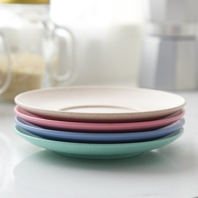 hello小店-4個套裝創意小麥碟子小盤子家用吐骨碟垃圾盤餐碟菜碟塑料#鍋墊#杯墊#墊子#