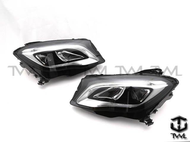 《※台灣之光※》全新BENZ賓士X156 19 18 17 16 15年R8光條LED黑底魚眼投射大燈頭燈組