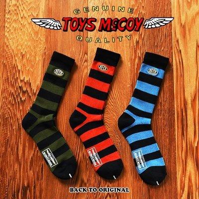 BTO 日本【TOYS McCOY】3-PACK BORDERED 條紋厚棉長襪 3入一組 TMA2007