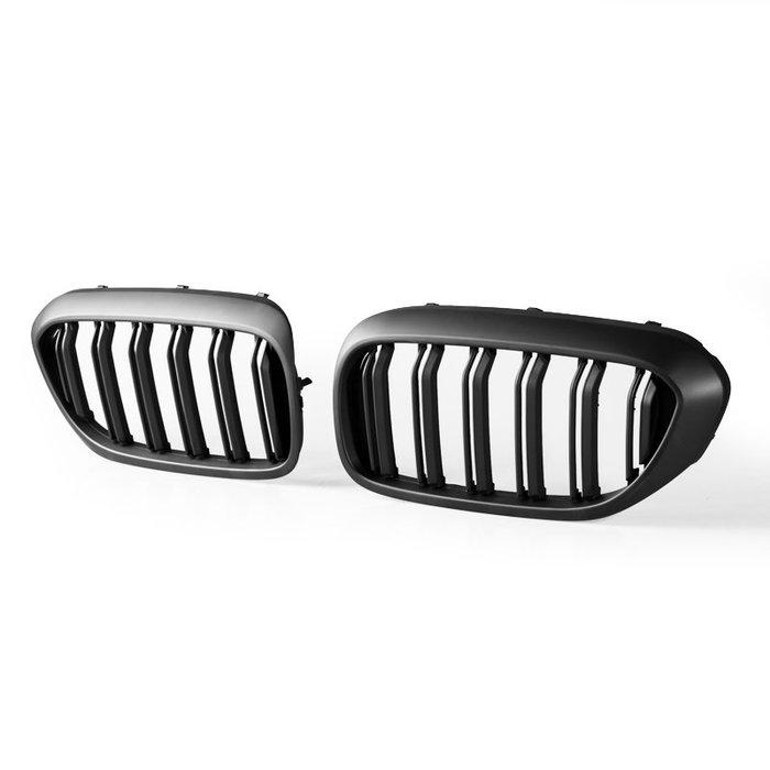 BMW 寶馬5系列 G30 G31 G38 適用 M造型 ABS水箱罩 鼻頭水箱護罩中網水柵 -消光黑 GR-49628