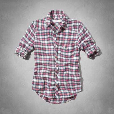 天普小棧】A&F abercrombie supersoft flannel shirt法蘭絨格紋襯衫KIDS L/XL